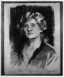 Elizabeth Sprague Coolidge, the great American patroness of chamber music, by the great American portraitist, John Singer Sargent.