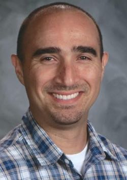 """Lompoc High School math teacher Francisco Diaz Real has been a committed mentor for newer teachers. """"I would not have survived my first year without his support,"""" one of his mentees says. """"This year I am thriving because of the foundation he gave me."""" (Santa Barbara County Education Office photo)"""