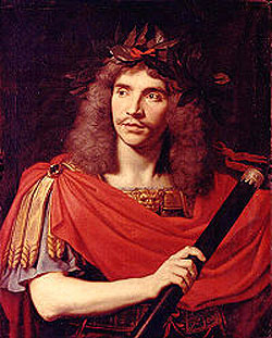 Jean-Baptiste Poquelin (universally known by his stage name Moliere), the funniest Frenchman of the 17th century.