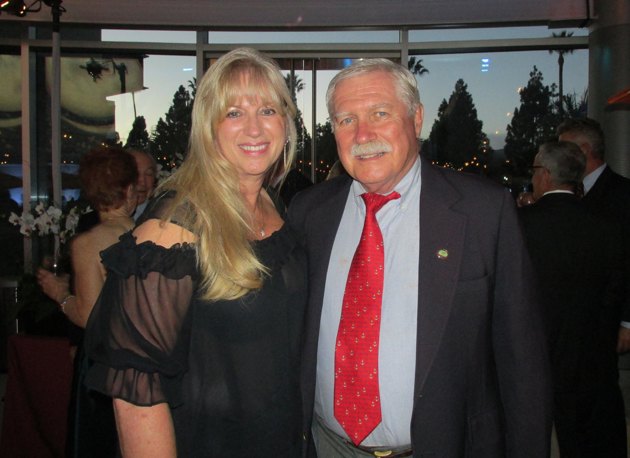 United Boys & Girls Clubs of Santa Barbara County board member Donna Starr Langley with Stan Los, standng in for his wife, Connie O'Shaughnessy-Los.