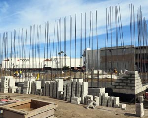 The latest construction at Santa Maria Town Center is drawing the interest of major retailers that could further revitalize the mall. (Gina Potthoff / Noozhawk photo)