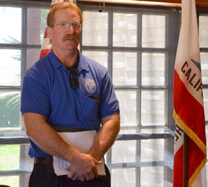 Santa Barbara County Deputy Probation Officer Jim Clark has inspired at least one Los Prietos Boys Camp graduate to pursue a college degree in administrative justice and sociology. (Giana Magnoli / Noozhawk photo)