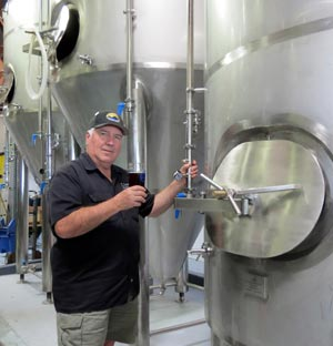 Island Brewing Company co-owner Paul Wright says his Carpinteria microbrewery has just purchased three more 45-barrel tanks as part of its expansion plans. (Gina Potthoff / Noozhawk photo)
