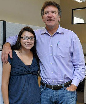 San Marcos High School senior Sonia Trujillo interned with Doug Ford at D.D. Ford Construction Inc. over the summer. 'I now have a better idea of what the industry is like and what personal skills I will need to succeed in the field,' she says.