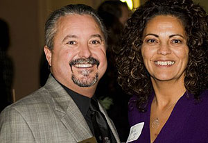 Drew Wakefield and Maria Jimenez at a Santa Barbara Athletic Round Table reception.