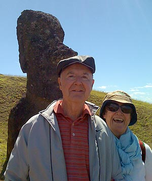 Sheila and Frank McGinity at Easter Island. (McGinity family photo)