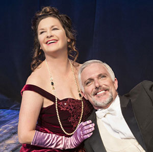 Stephanie Zimbalist and Patrick Cassidy are the lead lovers in Ensemble Theatre Company's 'A Little Night Music.' (David Bazemore photo)