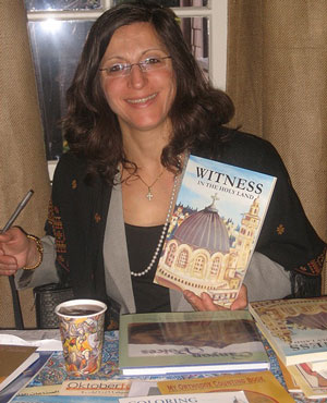 Maria Khoury signed a few of her children's books during her visit to All Saints By-the-Sea Episcopal Church.