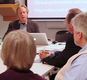 Dr. Jamey Marth, director of UCSB's Center for Nanomedicine, met with Goleta city officials last week to compare notes and outline objectives the research facility and the city have.
