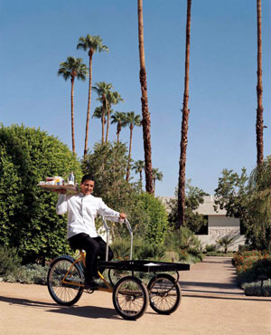 Did someone call for room service at The Parker in Palm Springs?