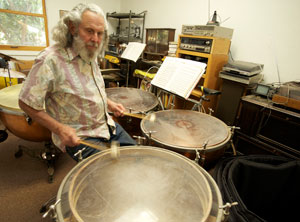 Steve Matzkin has been hooked on the kettle drums since he was in elementary school but spent much of his youth with a conventional drum set. 'Much later I was able to become reacquainted with the timpani, and I knew immediately I had been right so many years before,' he says now. 'The timpani is my instrument.' (Helena Day Breese photo)