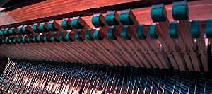 The felted fingers of a Welte-Mignon 'Vorsetzer' are poised to play a Ravel piece just like he did.
