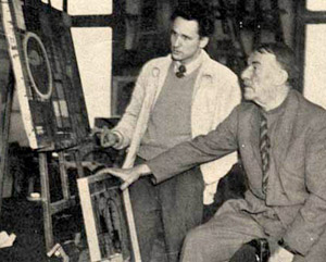 Ken Nack, left, with famed French painter Fernand Léger in 1950. (Nack family photo)