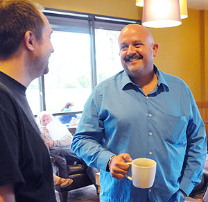 It wasn't just customers who bid farewell to Kevin Ziegler on Sunday at the Montecito Starbucks; former employees showed up to say goodbye, too.