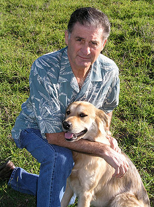 Dr. Bob Mazzetti with his dog, Mandy.