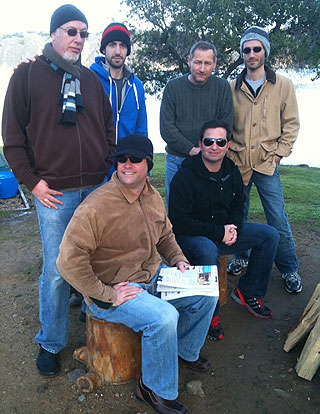 Clockwise from top left, Mark Sylvester, Mike Lewis, John Greathouse, Daryl Bernstein, Eric Greenspan and Palmer Jackson Jr. teamed up for a glampout.