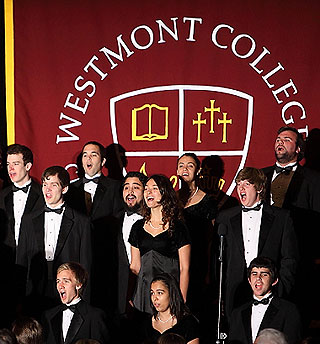 Led by conductor Michael Shashberger, the Westmont College Choir performed