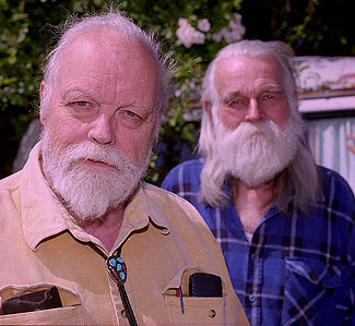 Composer Lou Harrison and his partner, Bill Colvig, in 1997.