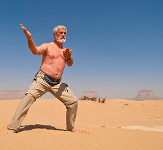 Is it just desert or an outdoor exercise arena? At your age, who cares?
