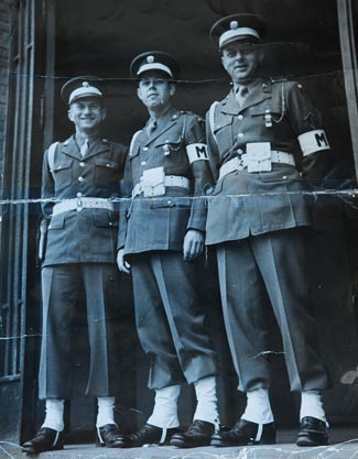 Leo Maczulak, left, with fellow Army MPs during their service in Europe. (Maczulak family photo)