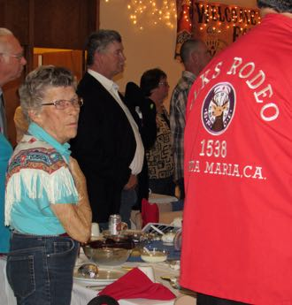 Bobbie Lee Kelly, the 1951 Santa Maria Elks Rodeo Queen, was among those attending Saturday night's rodeo queen contest kickoff dinner at the Santa Maria Elks Lodge. (Janene Scully / Noozhawk photo)