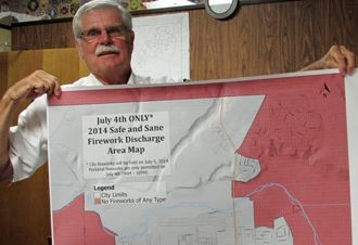 To make it easier for Fourth of July revelers, Lompoc Fire Chief Kurt Latipow has mapped out where 'safe and sane' fireworks can be used. (Janene Scully / Noozhawk photo)