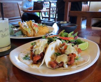 Salmon Tacos Are Among The Healthy Dishes Available At Los