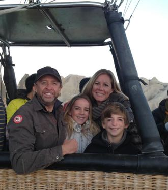 The Williams family is all set to lift off in a hot air balloon in Cappadocia, Turkey. While on a seven-month trip through Asia and Turkey, the family worked on strategies for their new nonprofit organization, Look At Us, to help other families with the challenge of craniofacial disorders. (Williams family photo)