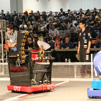 DPEA's Team 1717 robot took part in competitions in Long Beach, Las Vegas and St. Louis, gathering awards at every stop. (Dos Pueblos Engineering Academy photo)