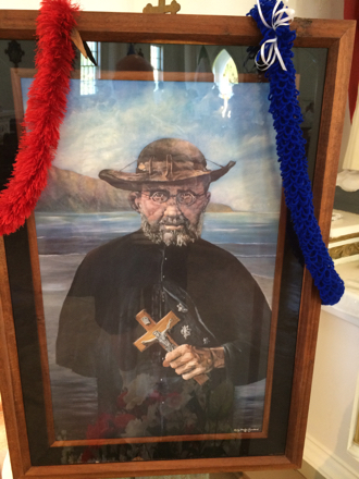 Father Damien, known as Saint Damien of Molokaʻi, spent 16 years serving the leper colony on the isolated island in Hawaii in the late 1800s before contracting the disease himself. (Frank McGinity photo)