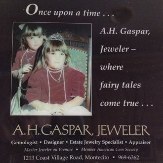 The Gaspar girls always had star power and often appeared in ads for the family-friendly A.H. Gaspar Jeweler business. (Gaspar family photo)