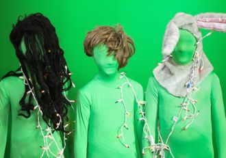 Among the many accessories kids have at their disposal at the DP Video Camp are the green screen and morph suits, which are costumes that allow them to appear invisible against computer-generated backgrounds. (DP Video Camp photo)