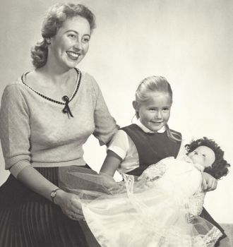 Pam Webber with her daughter, Jeanette, in an old family portrait. (Webber family photo)