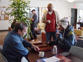 The Recovery Learning Center at the Fellowship Club provides opportunities for educational and research purposes — and also a chance to relax with a game or two. (Mental Wellness Center photo)