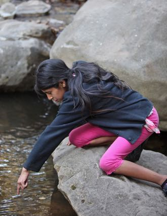 Research indicates that test scores, problem-solving skills and conflict resolution all improve when children spend more time outdoors. (Wilderness Youth Project photo)