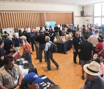 The Oil Spill Response Open House featured dozens of local, state and federal agencies, and was hosted by the Santa Barbara Elks Lodge No. 613 in Goleta. (Lara Cooper / Noozhawk photo)