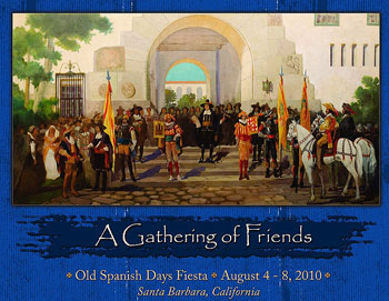 Almost as eagerly anticipated as Old Spanish Days itself is the annual Fiesta poster. This year there are two, including a limited edition poster with a blue border.