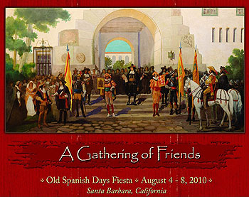 The official 2010 Old Spanish Days Fiesta poster — in red.
