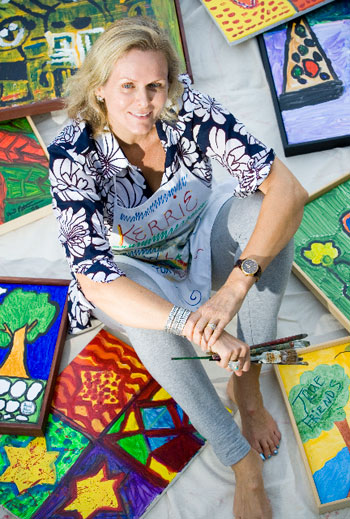Kerrie Kilpatrick-Weinberg, founder of Santa Barbara's Art Walk for Kids/Adults, credits a recent trip to Africa with re-inspiring her artist within. 'I find that travel always feeds me and excites me so then I can excite my students,' she says.