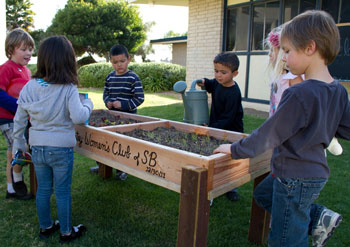 Nurturing a community garden is a team-building exercise at the United Boys & Girls Club of Goleta.