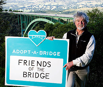 Marc McGinnes, a leader of Friends of the Bridge, which has been fighting officials over the Cold Spring Canyon Bridge barrier, is skeptical that the current proposal will actually prevent suicides.