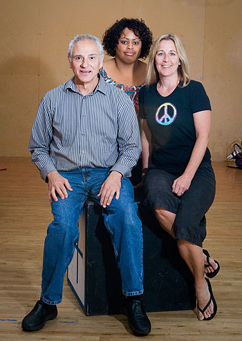 The big idea for Big Stage Productions came from, from left, Laezer Schlomkowitz, Dauri Kennedy and Kathy Kelley.