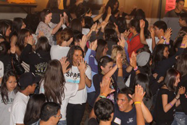 More than 300 youths attended — and danced — during last year's teen town hall as part of the Santa Barbara Council on Alcoholism & Drug Abuse's Youth Service System Free 4 the Weekend festivities.