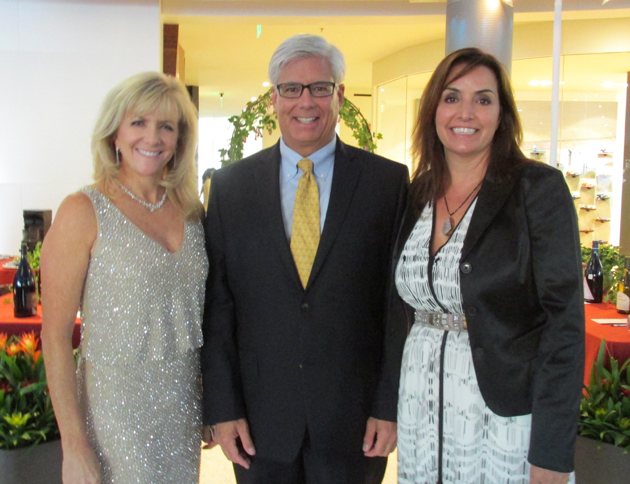 From left, Kids Auction co-chairwoman Melissa Gough, Union Bank's George Leis and Laurie Barker.