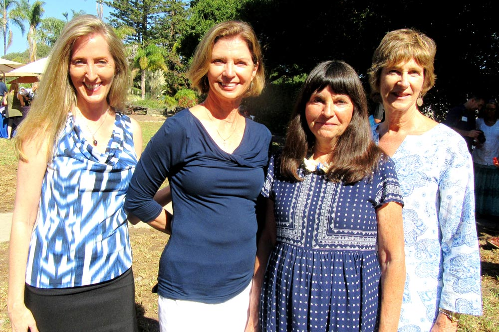Rebecca Weber, Susan Hughes, Suzi Ryan, and Pamela Gilbert helped make the Blues on the Bayou event a success.