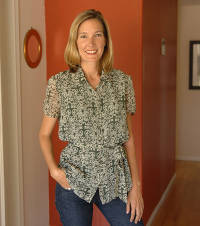 Kristen Amyx has been president and CEO of the Goleta Valley Chamber of Commerce since 2002. 'I fell in love with the area for so many reasons,' says the mother of two. 'The people are smart and friendly and I can raise my kids here.'