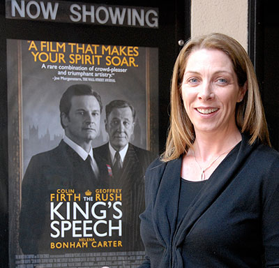 Maria McGrath credits the movie, 'The King's Speech', with helping bring a greater awareness and understanding to the issue of stuttering. 'This may well open people's minds about that and make it easier to talk about,' she says.