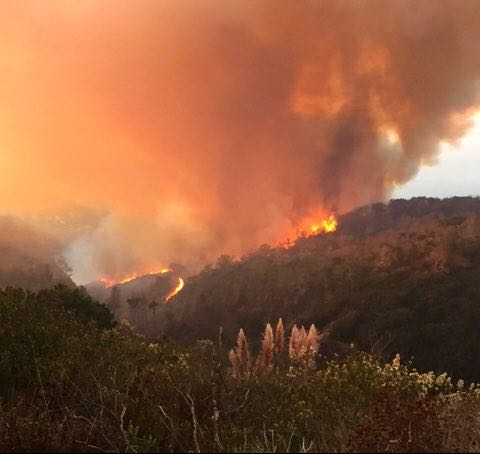 The Canyon Fire is burning on Vandenberg Air Force Base southwest of Lompoc. Officials say no facilities or infrastucture have been damaged.