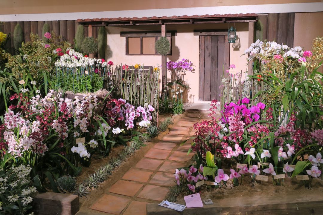 The display by Cal-Orchid Inc. of Santa Barbara was awarded the Sweepstakes Best Display in Show.