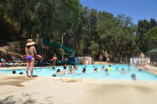 The pool at Camp Natoma is always a popular spot —especially when daytime high temperatures often reach into the 90s. (Camp Natoma photo)